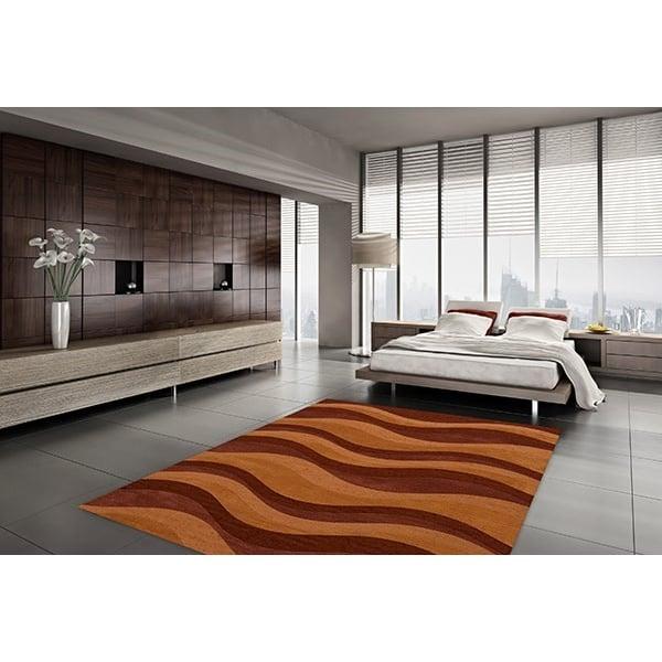 Harvest, Orange, Paprika Contemporary / Modern Area-Rugs