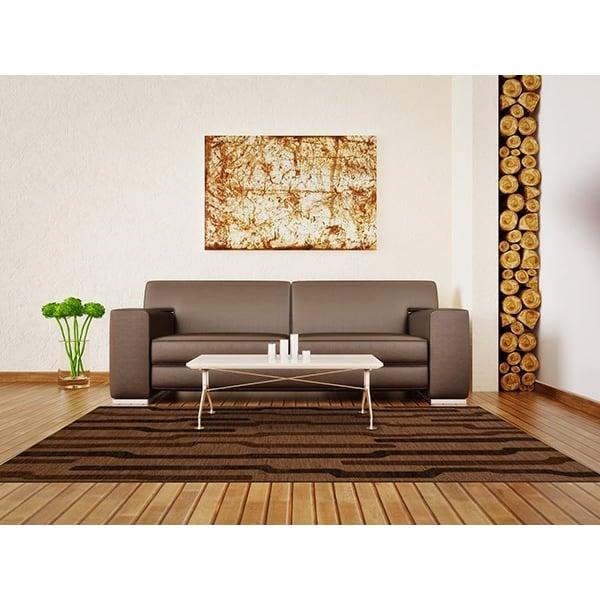 Clove, Brown Contemporary / Modern Area Rug