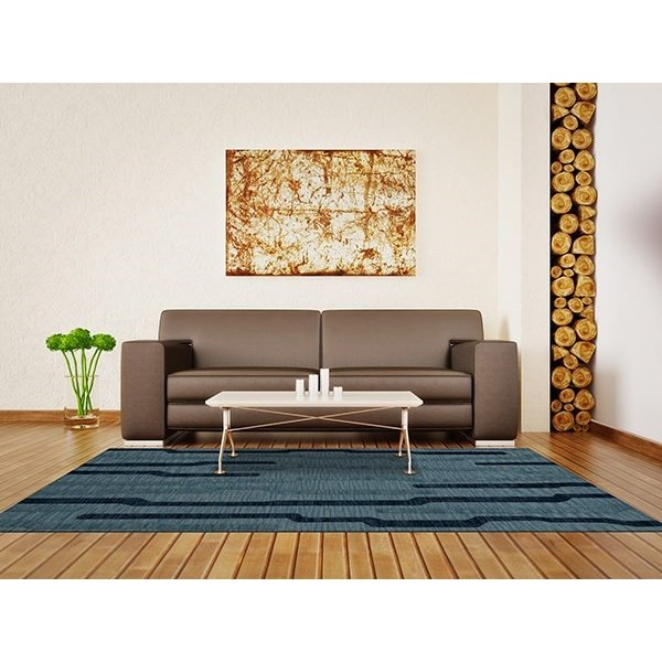 Saltwater, Blue Contemporary / Modern Area-Rugs