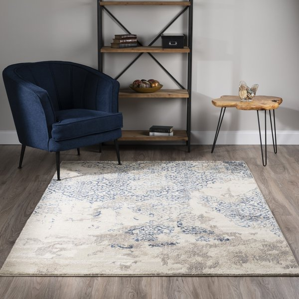 Linen, Taupe, Navy Vintage / Overdyed Area-Rugs