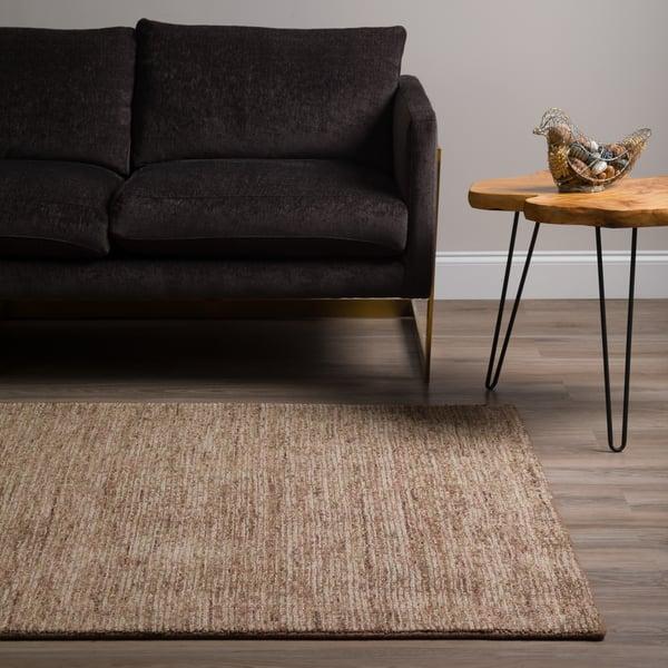 Mocha, Chocolate, Green, Paprika Contemporary / Modern Area Rug