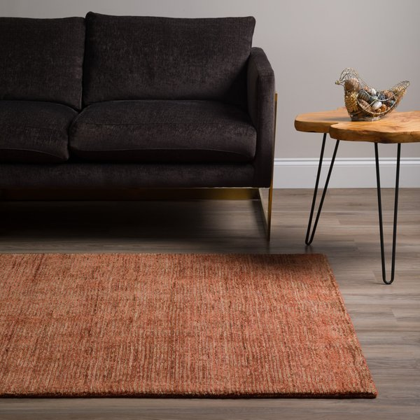 Paprika, Taupe, Chocolate Contemporary / Modern Area Rug
