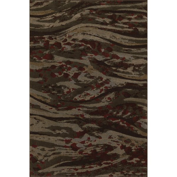 Chocolate Contemporary / Modern Area Rug