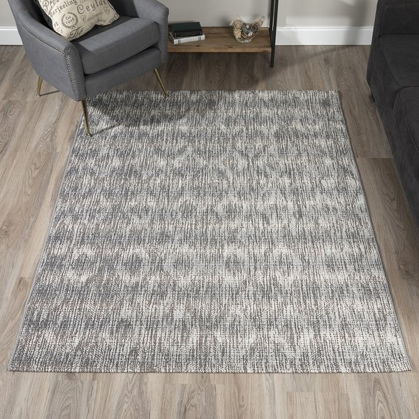 Ash, Grey, Ivory Contemporary / Modern Area Rug