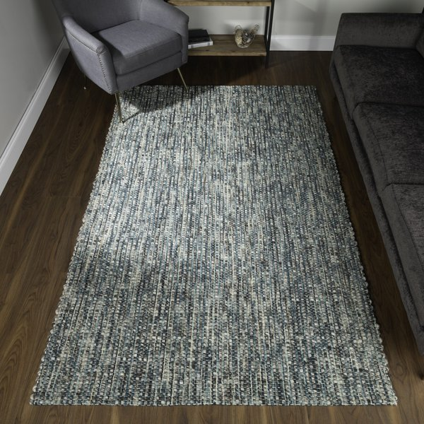 Turqouise Contemporary / Modern Area Rug