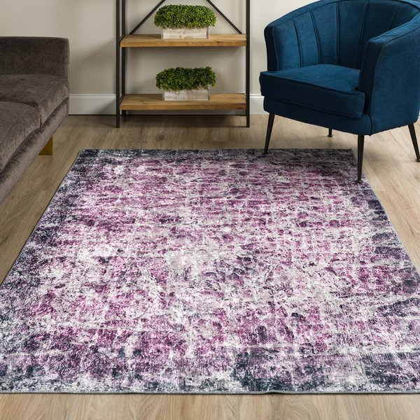 Amethyst Abstract Area-Rugs