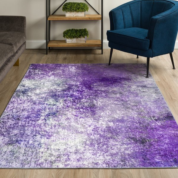 Orchid Abstract Area-Rugs