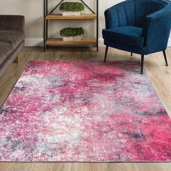 Rose Quartz Abstract Area-Rugs