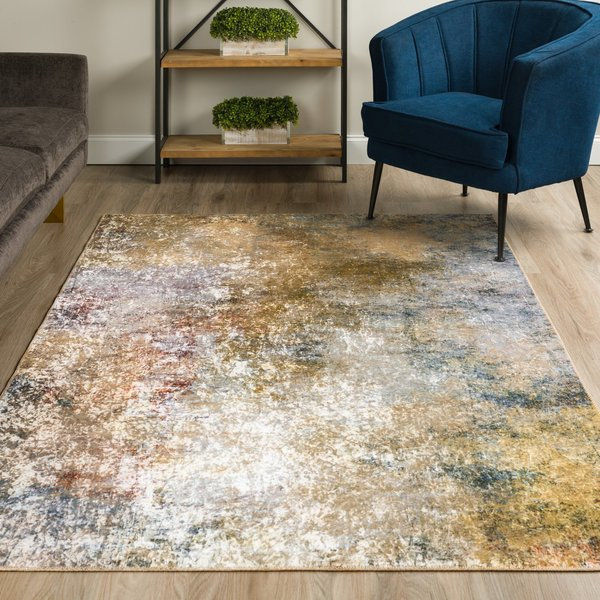Saffron Abstract Area-Rugs