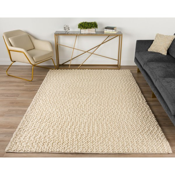 Vanilla, Ivory, Taupe Contemporary / Modern Area-Rugs