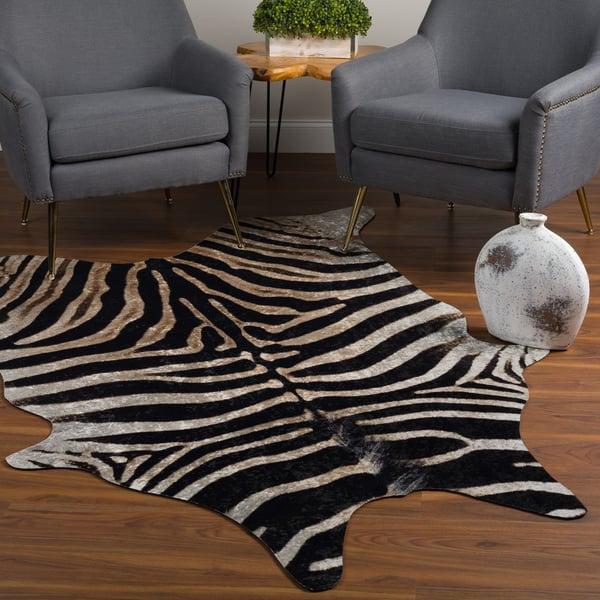 Black, Tan, Ivory Animals / Animal Skins Area Rug
