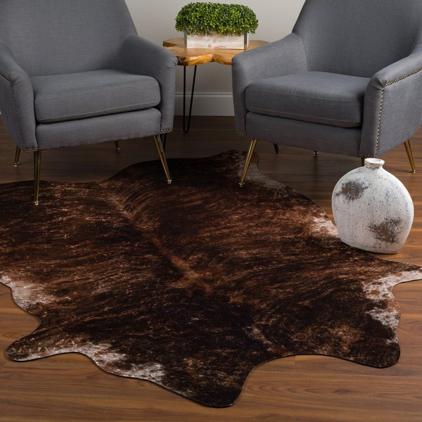 Brindle, Brown, Ivory Animals / Animal Skins Area Rug