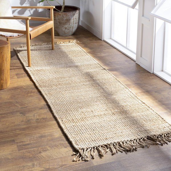 Cream Natural Fiber Area Rug