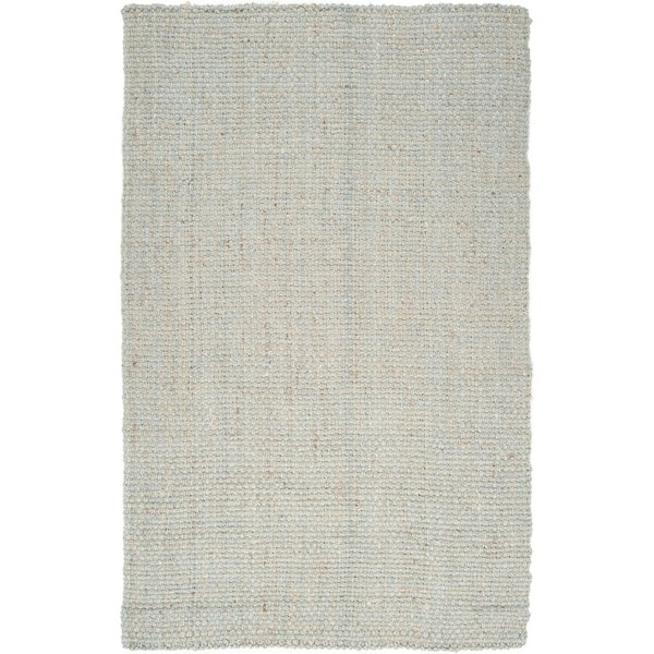 Light Grey Natural Fiber Area Rug