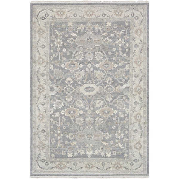 Taupe, Dark Brown, Butter (SMK-102) Traditional / Oriental Area Rug