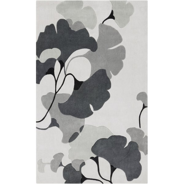 Medium Grey, Ivory, Light Grey Floral / Botanical Area Rug