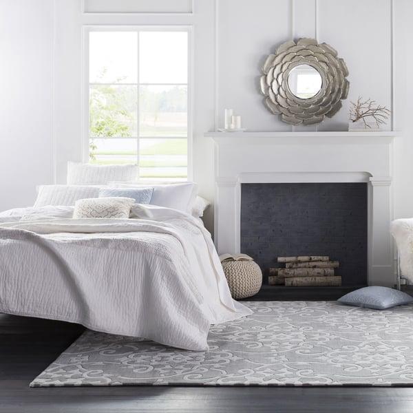 Silver Gray Traditional / Oriental Area Rug