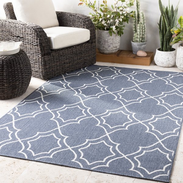 Charcoal, White Contemporary / Modern Area Rug