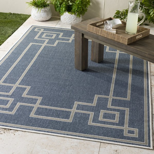 Charcoal, Taupe, White Contemporary / Modern Area Rug