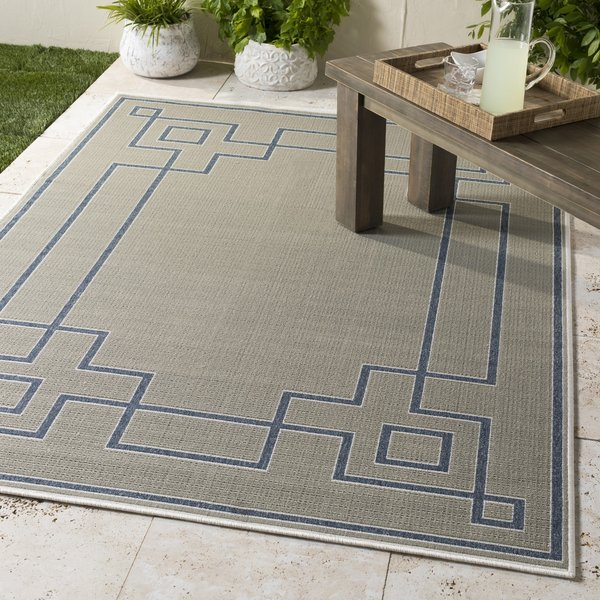 Taupe, Charcoal, White Contemporary / Modern Area Rug