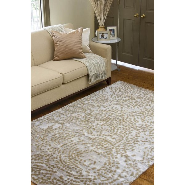 Taupe, Tan, Light Gray Contemporary / Modern Area Rug