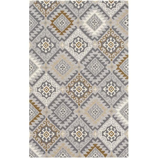 Grey, Carmel, Cream Southwestern Area Rug