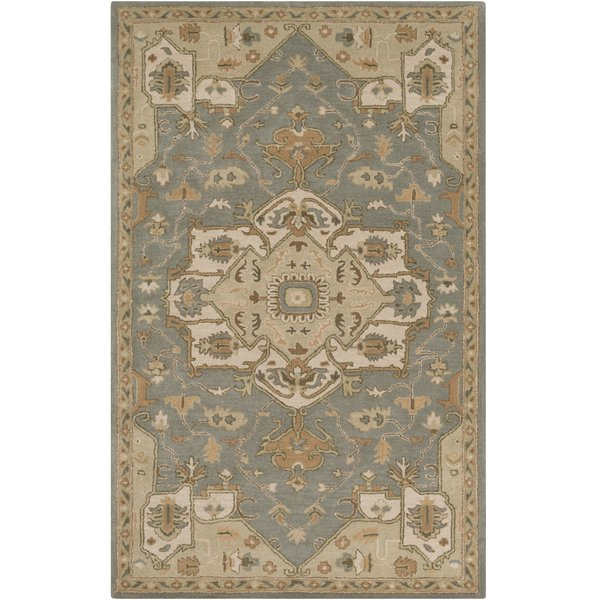 Khaki, Medium Gray, Dark Brown, Camel Traditional / Oriental Area Rug