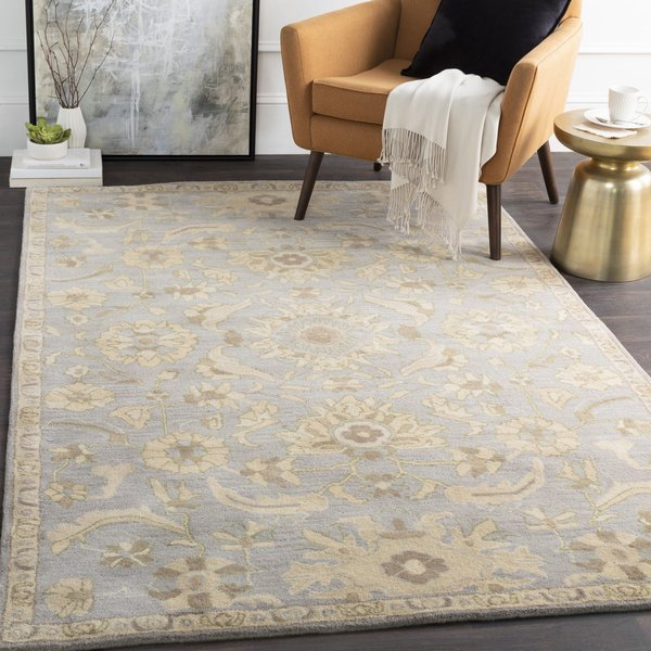 Light Gray, Olive, Beige, Camel Traditional / Oriental Area Rug