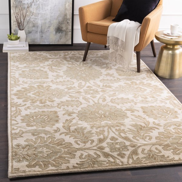 Beige, Taupe, Camel, Sea Foam Traditional / Oriental Area Rug