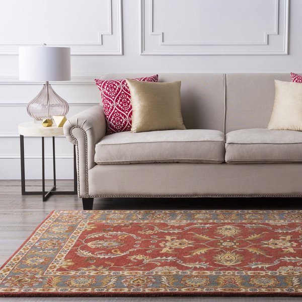 Rust, Charcoal, Mustard Traditional / Oriental Area-Rugs