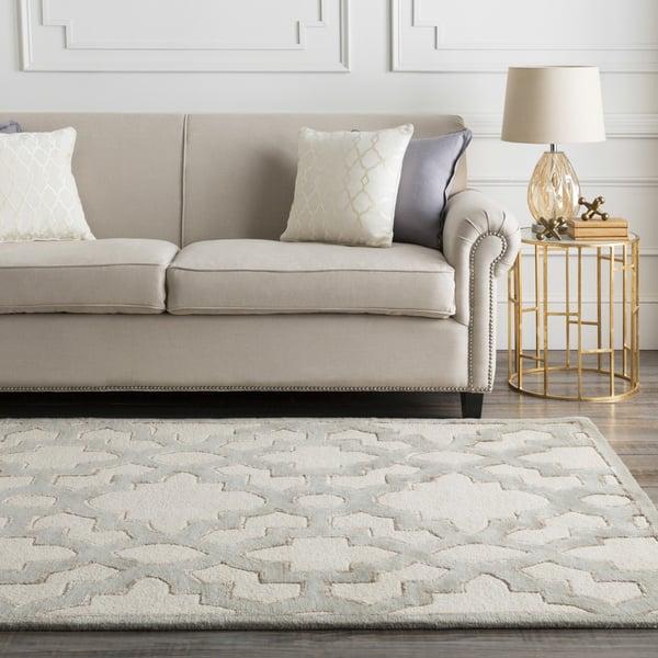 Cream, Medium Grey, Tan Contemporary / Modern Area Rug