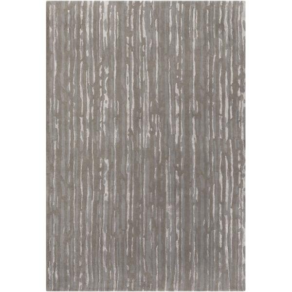Gray, Slate, Light Gray Contemporary / Modern Area Rug