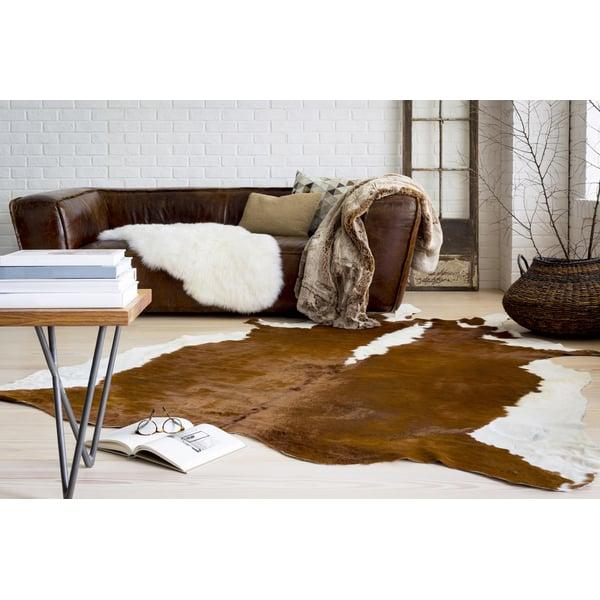 Brown, White Animals / Animal Skins Area Rug