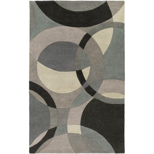Khaki, Denim, Charcoal Contemporary / Modern Area Rug