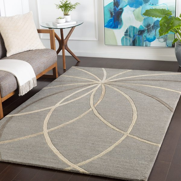 Grey, Cream, Camel Contemporary / Modern Area-Rugs