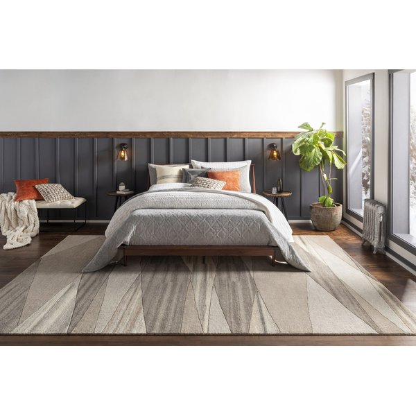 Dark Brown, Charcoal, Taupe (FM-7211) Contemporary / Modern Area Rug