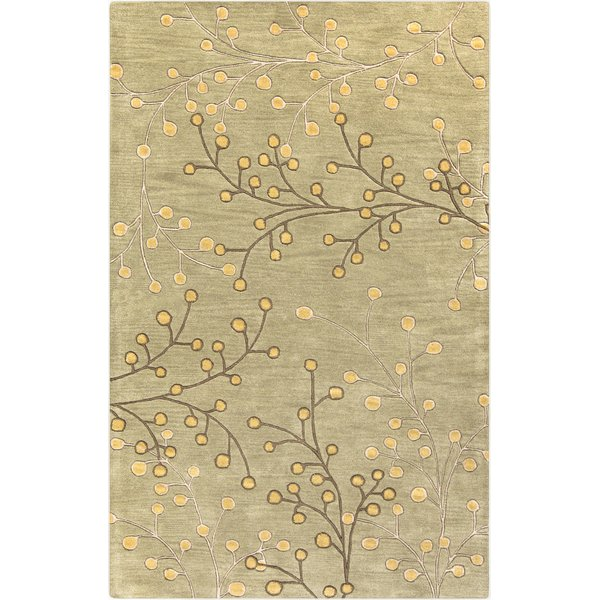 Tan, Taupe, Olive, Camel Floral / Botanical Area-Rugs