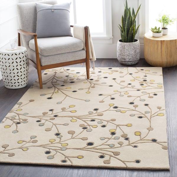 Khaki, Lime, Navy, Denim, Camel Floral / Botanical Area-Rugs