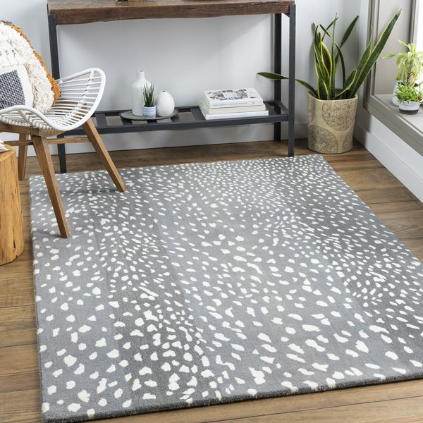 Grey, White (ATH-5163) Contemporary / Modern Area-Rugs