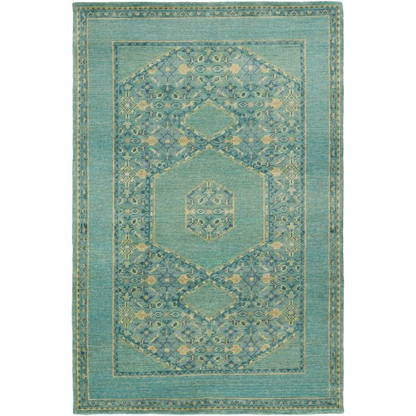 Teal, Emerald, Olive, Dark Green Traditional / Oriental Area Rug