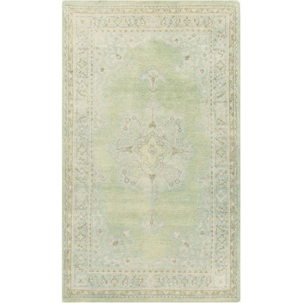 Beige, Mint, Emerald, Dark Green Traditional / Oriental Area Rug