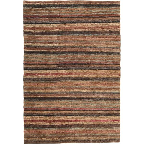 Tan, Beige (TND-1120) Striped Area-Rugs