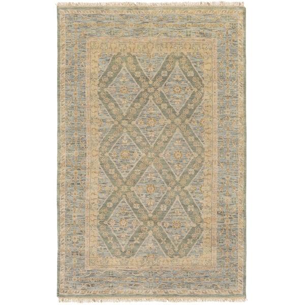 Teal, Denim, Khaki, Camel Traditional / Oriental Area Rug