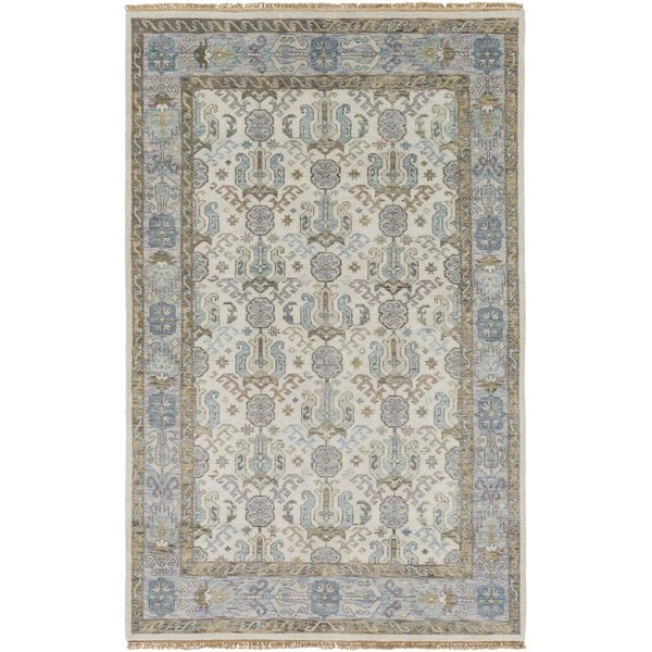 Ivory, Denim, Olive, Teal, moss Traditional / Oriental Area-Rugs