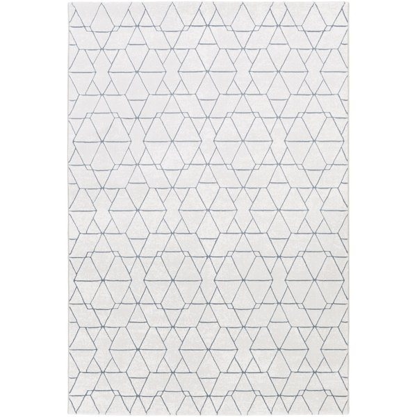 Light Gray, Denim, White Contemporary / Modern Area Rug