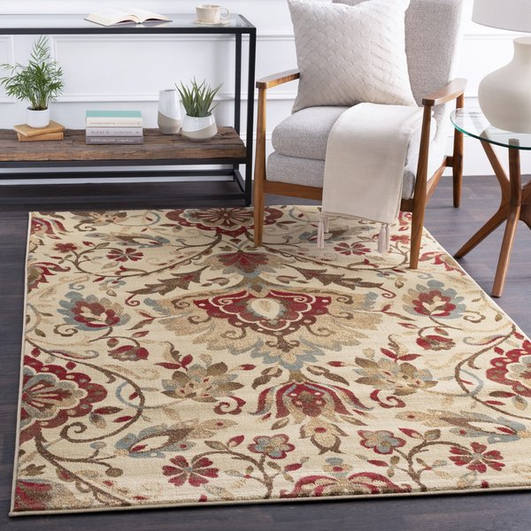 Camel, Mossy Stone, Sienna Traditional / Oriental Area Rug