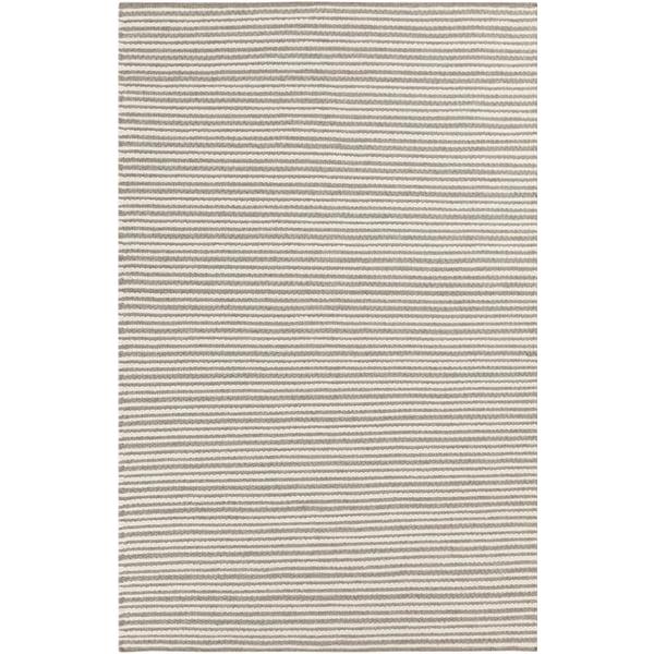 Cream, Camel Striped Area Rug