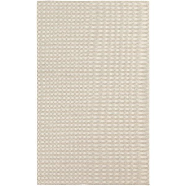 Biscotti, White Striped Area Rug