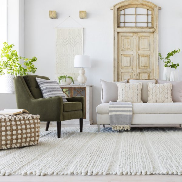 Ivory, Charcoal (TAH-3703) Contemporary / Modern Area-Rugs