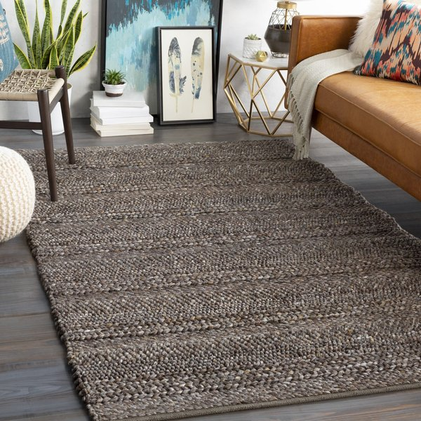 Medium Grey, Tan, White (TAH-3708) Contemporary / Modern Area Rug